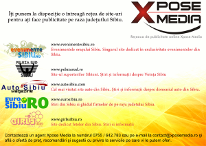 Macheta publicitate retea Xpose Media-site